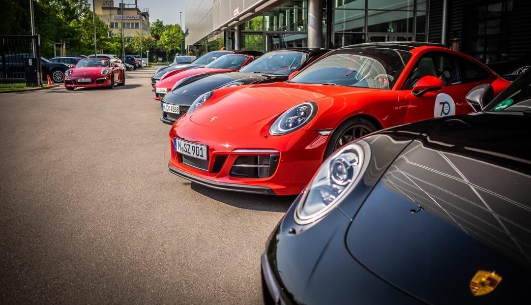Porsche Ausfahrt München Italien