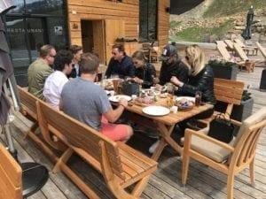 Sportwagentour Timmelsjoch Mittagessen