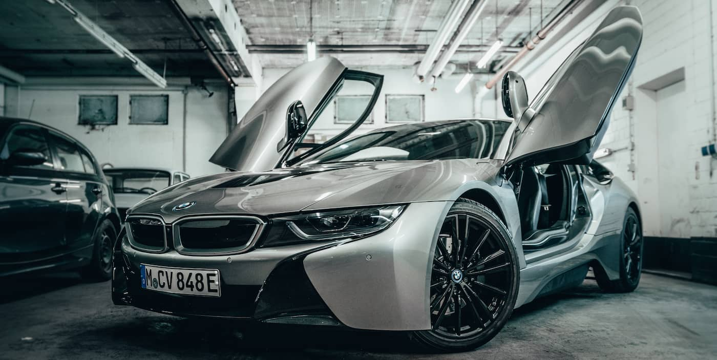 Bmw i8 mieten muenchen front