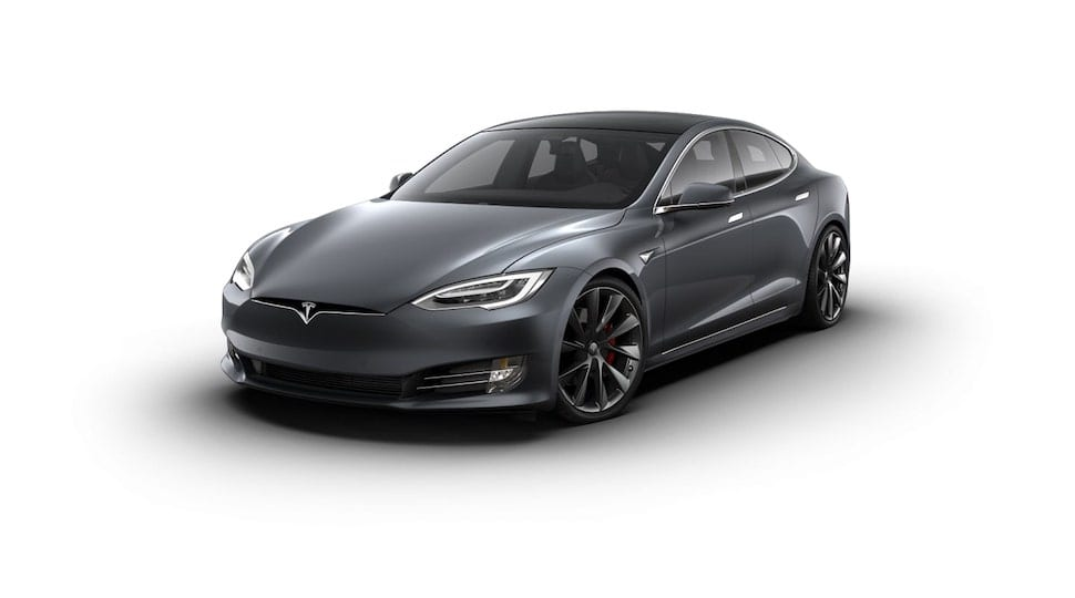 Tesla Model S in grau
